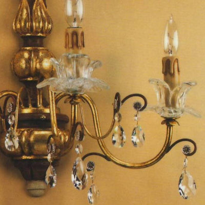 ALBA LAMP: Wall Light Sconce Swarovski Clear