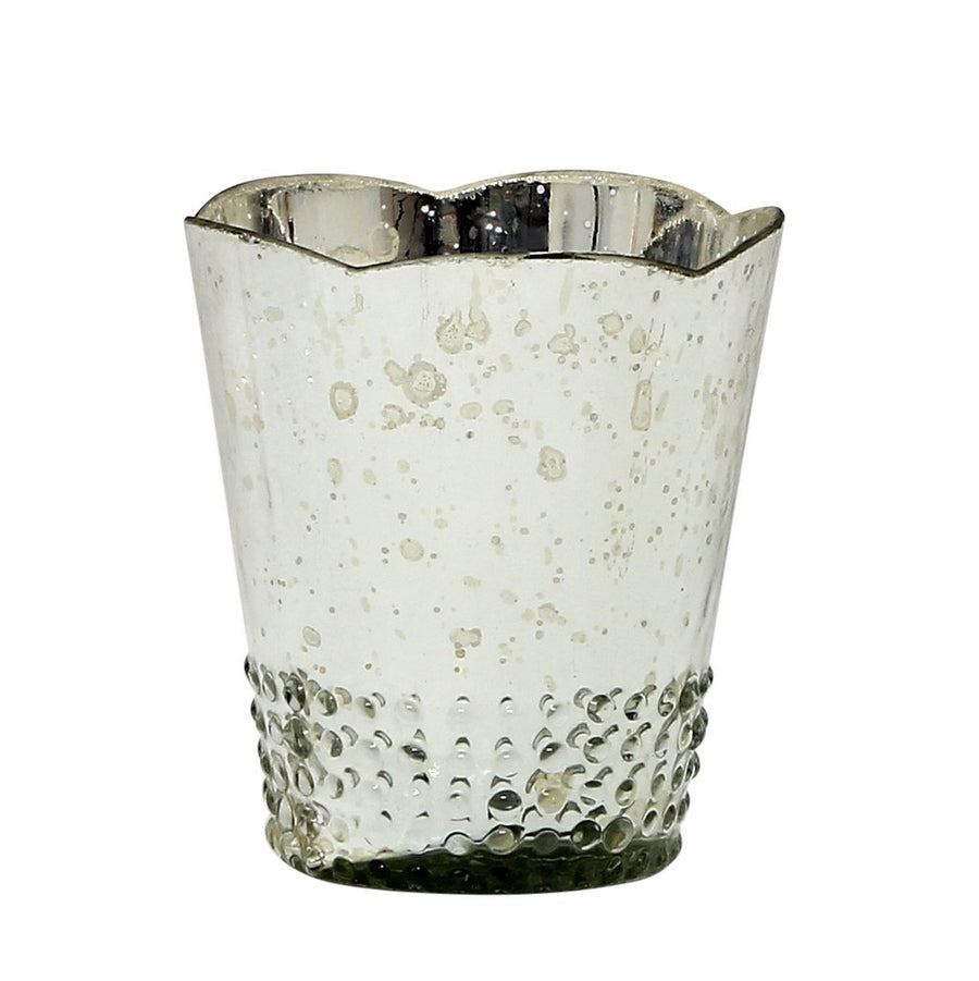 MONDIAL CANDLES: Array Silver Design Glass Container Candle SILVER