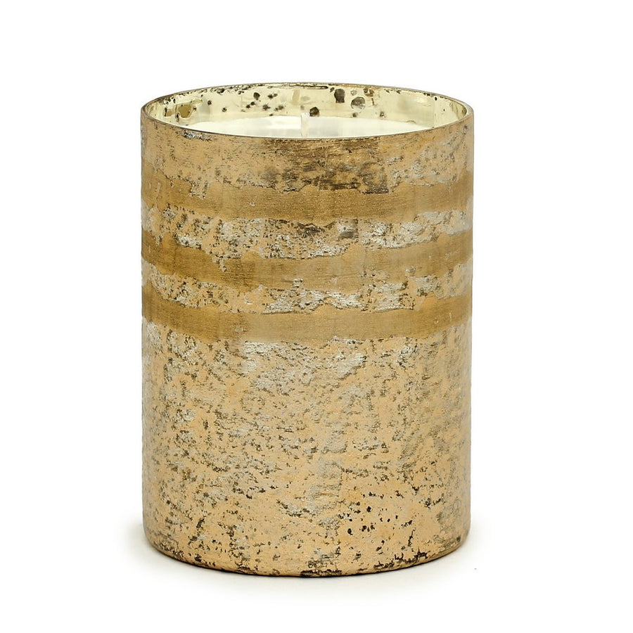 MONDIAL CANDLES: Reese Design Large Glass Container Candle Bronze/Gold