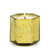MONDIAL CANDLES: Trinity Design Glass Container Candle Ant. Gold