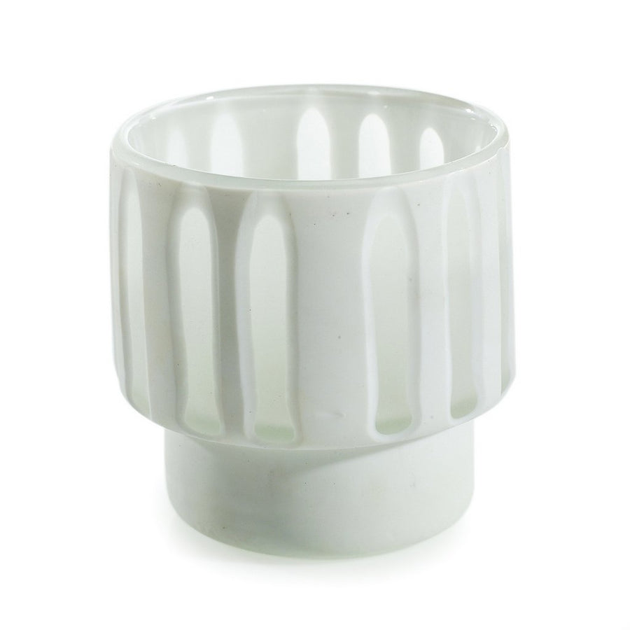 MONDIAL CANDLES: Draper Candle Vase Glass Container White