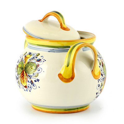 FRUTTA: Round Biscotti Jar with 2 Handles (Small)