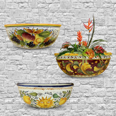 TOSCANA: Wall Pocket Planter Sicilia Design