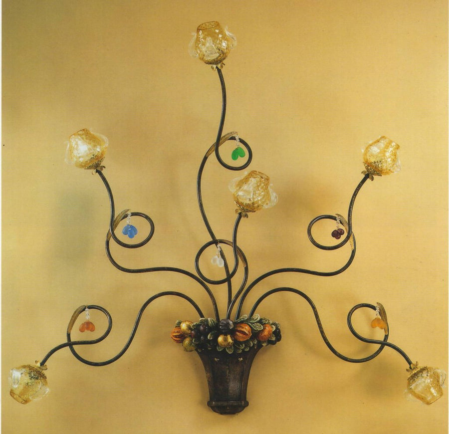 ALBA LAMP: Wall Light Sconce G9 Bulb Scavo Murano