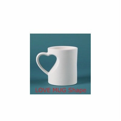 DERUTA VARIO ROSSO: Set of two Love Mugs Heart Handle and Italian Love Songs CD