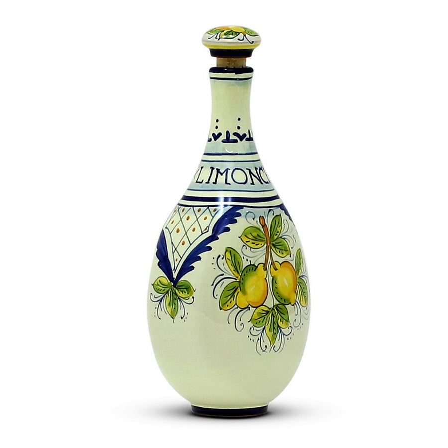 LIMONCELLO: Limoncello Bottle with Stopper Blue design