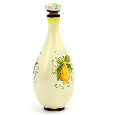 LIMONCELLO: Limoncello Bottle with Stopper (Red design)