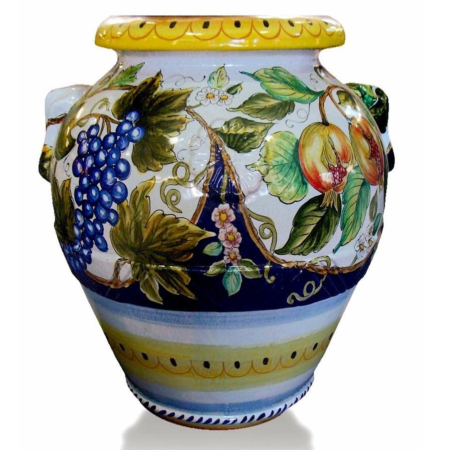 Shop by size vases urns extra large artistica grande giardino large deruta tuscan orcio urn grape pomegranate design reviewsmspy