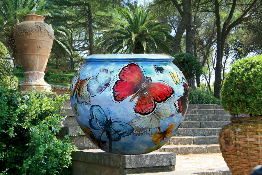 GRANDE GIARDINO: Extra-Large-Huge Vase 'Palla' ~ BUTTERFLY design