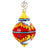 CHRISTMAS ORNAMENT: Red Pia Design Drop Ball Medium