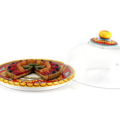 DERUTA VARIO: Domed Cake Plate Red Pia Designs