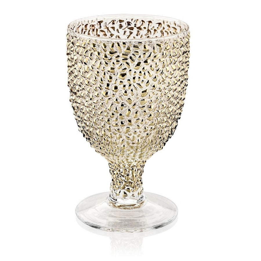 IVV GLASS: Special Goblet GOLD Bubble