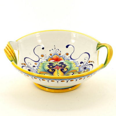 DERUTA GLT: Footed Bowl w 2 Handles