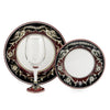 DERUTA STEMWARE PACK: Pinot Glass and Dinner Plate and Salad Plate POMPEI Design