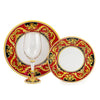DERUTA STEMWARE PACK: Pinot Glass and Dinner Plate and Salad Plate REGAL Design