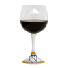 DERUTA STEMWARE: Burgundy Balloon Glass on Hand Painted Ceramic Base TROPEA Design