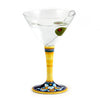 DERUTA STEMWARE: Martini Glass on Hand Painted Ceramic Base CELESTE Design