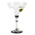 DERUTA STEMWARE: Martini Glass on Hand Painted Ceramic Base DERUTA VARIO NERO Design