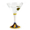 DERUTA STEMWARE: Martini Glass on Hand Painted Ceramic Base ELENA Design