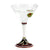 DERUTA STEMWARE: Martini Glass on Hand Painted Ceramic Base POMPEI Design