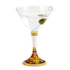 DERUTA STEMWARE: Martini Glass on Hand Painted Ceramic Base REGAL Design