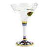 DERUTA STEMWARE: Martini Glass on Hand Painted Ceramic Base RICCO DERUTA Design