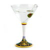 DERUTA STEMWARE: Martini Glass on Hand Painted Ceramic Base VENEZIA Design