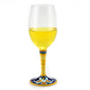DERUTA STEMWARE: Pinot Glass on Hand Painted Ceramic Base CELESTE Design