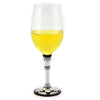 DERUTA STEMWARE: Pinot Glass on Hand Painted Ceramic Base DERUTA VARIO NERO Design