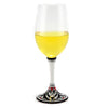 DERUTA STEMWARE: Pinot Glass on Hand Painted Ceramic Base RINASCIMENTO Design