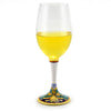 DERUTA STEMWARE: Pinot Glass on Hand Painted Ceramic Base VENEZIA Design