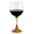 DERUTA STEMWARE: Burgundy Balloon Glass on Hand Painted Ceramic Base REGAL Design