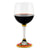 DERUTA STEMWARE: Burgundy Balloon Glass on Hand Painted Ceramic Base TIZIANO Design