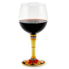 DERUTA STEMWARE: Burgundy Balloon Glass on Hand Painted Ceramic Base VARIO 5 Design