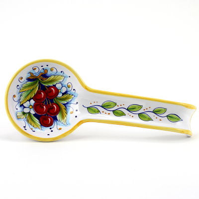 DERUTA: Spoon rest CHERRIES (also wall hung)