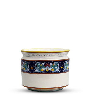 DERUTA BELLA: Cylindrical Cover Pot Vario Fiore Design - Cachepot Planter (Small)