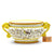 ARABESCO GIALLO: Luxury Round Centerpiece Serpentine Handles [R]