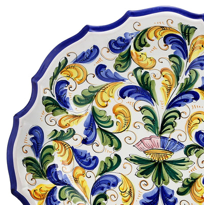 PERSIANO: Deluxe Scalloped Round Wall Plate Persiano Design  (20D)