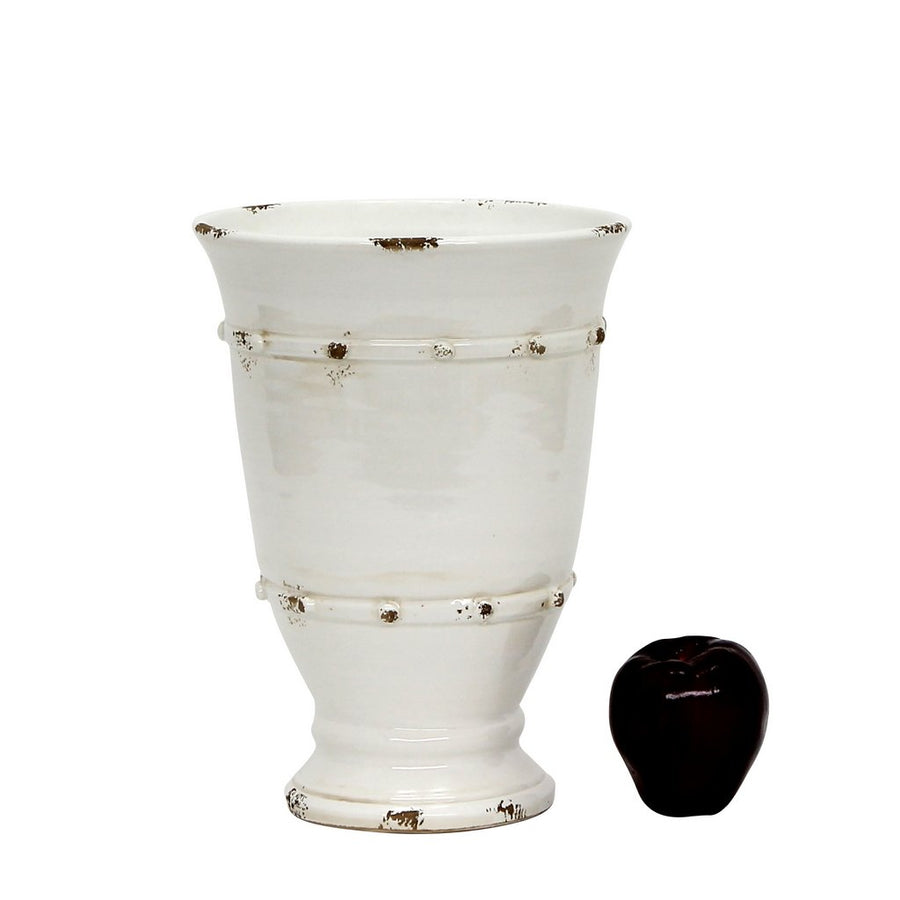 SCAVO CLASSICO TOSCANO: Footed Cup Vase (Medium)