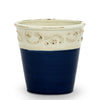 SCAVO COLORE: Small Cachepot Vase - Blue/White