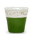 SCAVO COLORE: Small Cachepot Vase - Green/White
