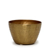 MONDIAL CANDLES: Jema Gold Design Metal Container Candle BRONZE