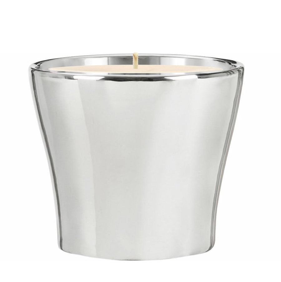 MONDIAL CANDLES: Chrome Mirror Silver Luxury Ceramic Candle