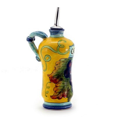 UVA FONDO GIALLO: Shaped Olive Oil Bottle Cruet