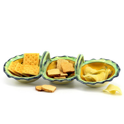 UVA FONDO GIALLO: Three Part Server Snack Tray