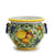 "TUSCANIA: Round Tuscan cachepot with side rings (Small 13"" Diam.)"