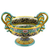 EXCELSIOR: Luxury Deruta Large Centerpiece with serpentine handles - XV Century Reproduction.