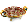 PRIMA CLASSE: Deruta Centerpiece with portrait ~ Fully decorate ~ Handles and portrait.