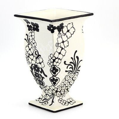 NERONE: Square footed vase - (Premium Masterpiece by Francesca Niccacci)
