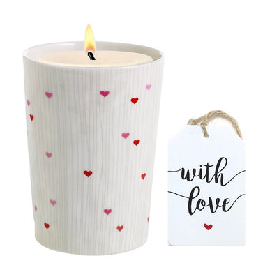 MONDIAL CANDLES: VALENTINO - Love Bug Candle Vase Ceramic Container